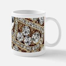 bohemian girly gold rhinestone Mugs
