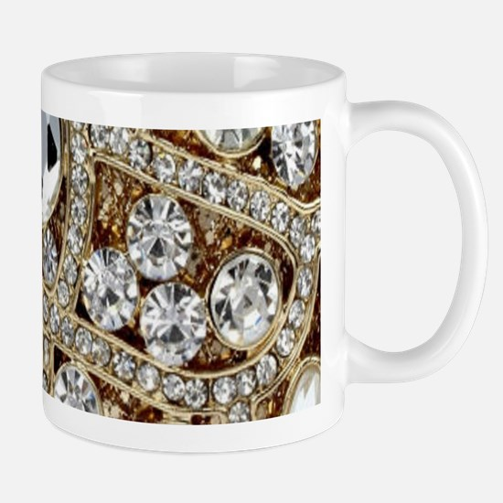 bohemian girly gold rhinestone Mugs