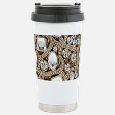 bohemian girly gold rhi Stainless Steel Travel Mug