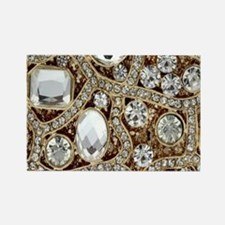 bohemian girly gold rhinestone Magnets