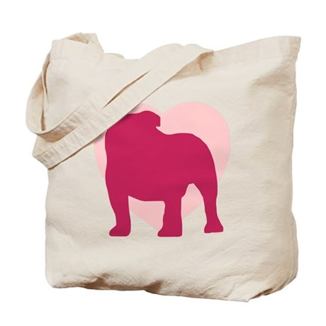 Bulldog Valentine's Day Tote Bag