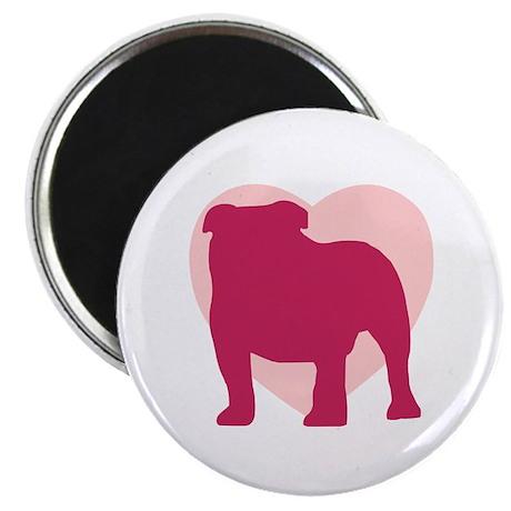 Bulldog Valentine's Day Magnet