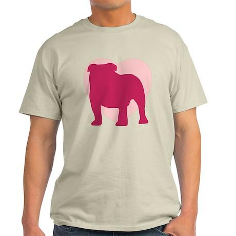 Bulldog Valentine's Day Light T-Shirt