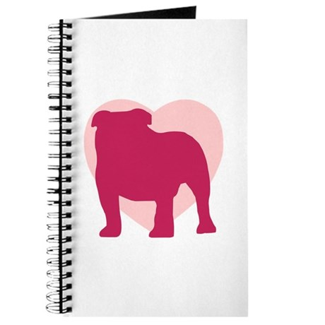 Bulldog Valentine's Day Journal