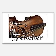 BEST TEACHER Rectangle Decal