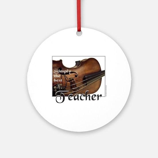 BEST TEACHER Ornament (Round)