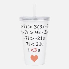 Equation of Love Acrylic Double-wall Tumbler