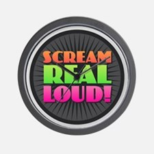 Scream Real Loud Wall Clock