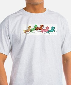 many leaping horses T-Shirt