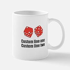 Craps Dice Gambling Custom Design Mugs