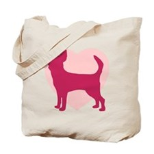 Chihuahua Valentine's Day Tote Bag
