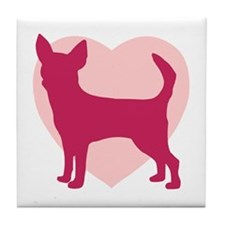 Chihuahua Valentine's Day Tile Coaster