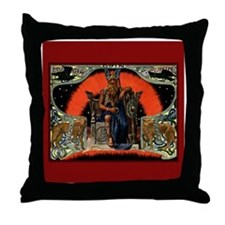 Odin's Throne Throw Pillow