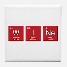 Periodic Table WIne Tile Coaster
