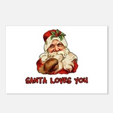 Santa Loves You Postcards (Package of 8)
