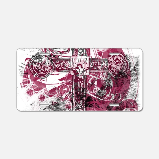 Blood on the Cross Aluminum License Plate