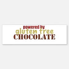 Powered By Gluten Free Chocolate Bumper Bumper Bumper Sticker