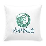 Mahalo Burlap Pillows