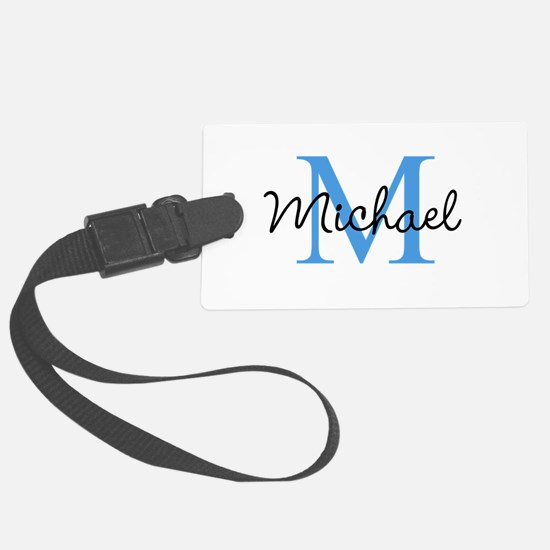 Personalize Iniital, and name Luggage Tag