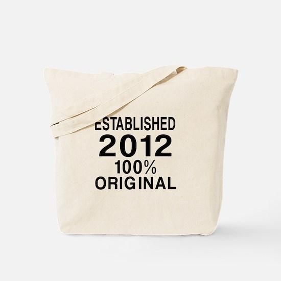 Established 2012 Tote Bag