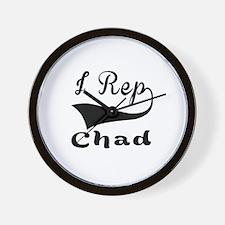 I Rep Chad Wall Clock