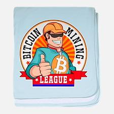 Bitcoin Mining League BML Badge Logo baby blanket