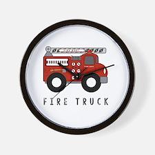 Cute Fire truck kids Wall Clock
