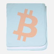 Bitcoin Strength in Number Matrix baby blanket
