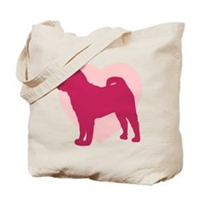 Shar Pei Valentine's Day Tote Bag