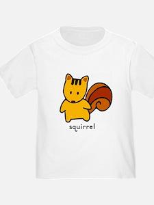Squirrel Flashcard Tee T-Shirt