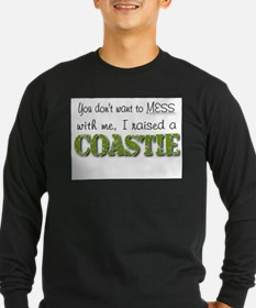 I raised a Coastie (green) Long Sleeve T-Shirt