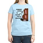 Forget Chocolate Women's Light T-Shirt
