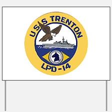 USS Trenton LPD 14 Yard Sign