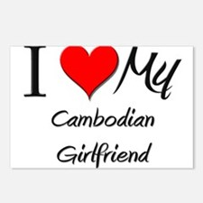 I Love My Cambodian Girlfriend Postcards (Package