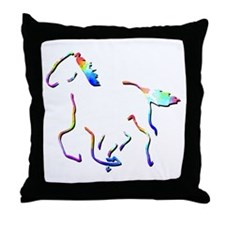 Wild Mustangs Picture Throw Pillow