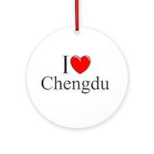 """""""I Love Chengdu"""" Ornament (Round)"""