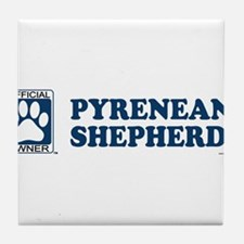 PYRENEAN SHEPHERD Tile Coaster