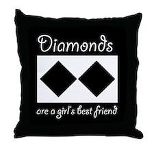Double Diamond Throw Pillow