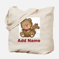 cowboy bear personalized Tote Bag