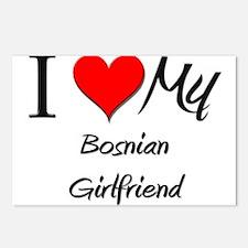 I Love My Bosnian Girlfriend Postcards (Package of