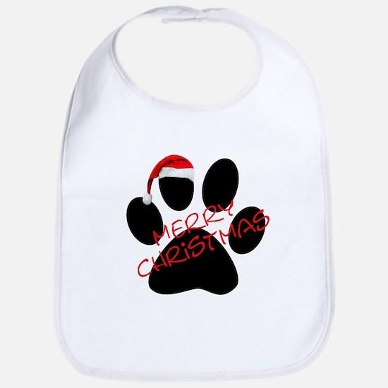 Cute Dog Paw Print Bib