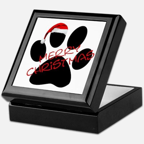 Cute Dog Paw Print Keepsake Box