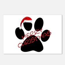 Cute Dog Paw Print Postcards (Package of 8)