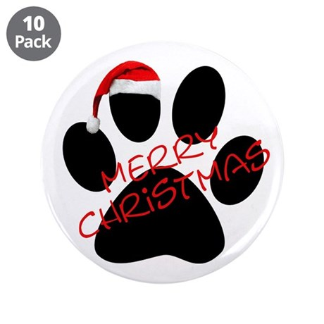 """Cute Dog Paw Print 3.5"""" Button (10 pack)"""