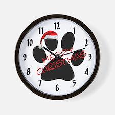 Cute Dog Paw Print Wall Clock