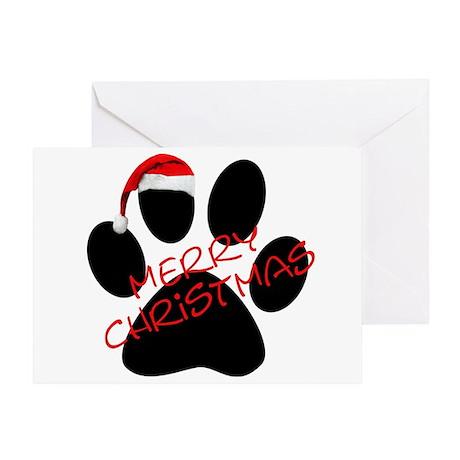 Cute Dog Paw Print Greeting Card