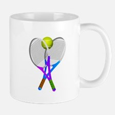 Tennis Rackets and Ball Mugs