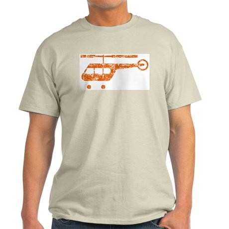 Retro Helicopter Ash Grey T-Shirt
