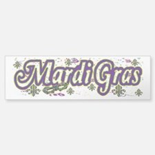 Mardi Gras Confetti B Bumper Bumper Bumper Sticker