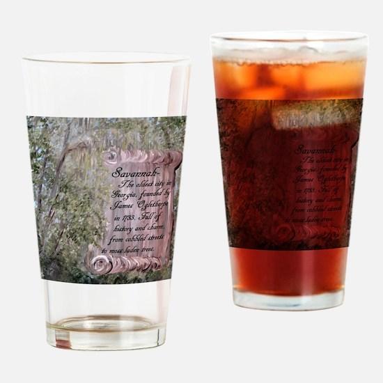 Unique Savannah Drinking Glass